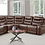 Thumbnail: IN STOCK NEW_6-PIECES USB POWER POLISHED MICROFIBER RECLINING SECTIONAL SOFA.