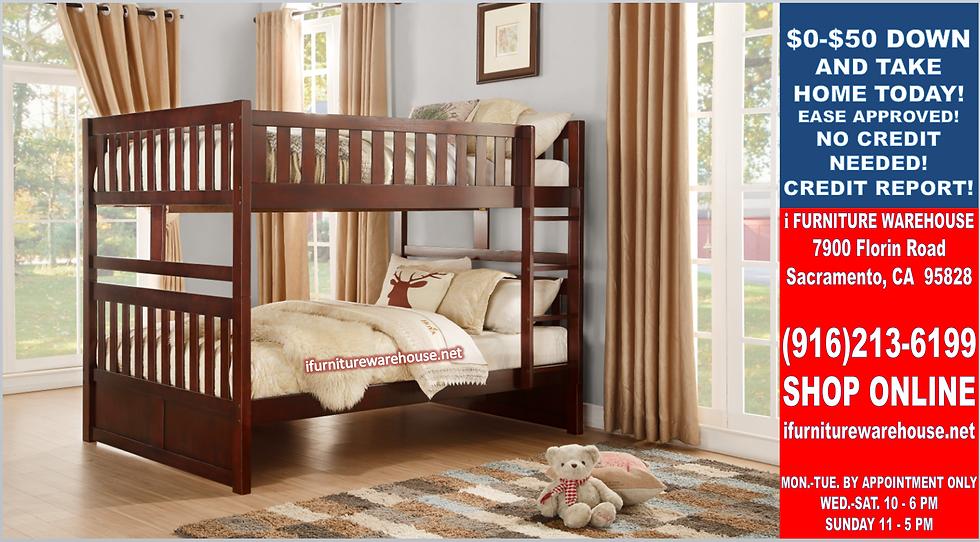 IN STOCK NEW_FULL BED/ CHERRY FULL/FULL BUNK BED ONLY.
