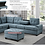 Thumbnail: IN STOCK NEW_2PCS. BLUE FABRIC CUP HOLDER REVERS. SECTIONAL SOFA ONLY.
