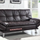 Thumbnail: IN STOCK NEW_CONTEMPORARY BROWN SOFA BED, FUTON, SLEEPER.