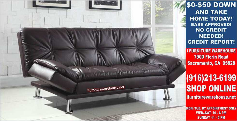 IN STOCK NEW_CONTEMPORARY BROWN SOFA BED, FUTON, SLEEPER.