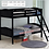 Thumbnail: IN STOCK NEW_WOOD BLACK TWIN/TWIN YOUTH BUNK BED ONLY.
