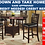 Thumbnail: IN STOCK NEW_42X60 Oval Counter Height Dining Table & 4 Chair w/ Removable Leaf