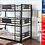 Thumbnail: IN STOCK NEW_METAL TRIPLE TWIN/TWIN/TWIN BUNK BED ONLY.