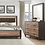 Thumbnail: IN STOCK 4PCS RUSTIC BROWN LED HEAD QUEEN BED, DRESSER, MIRROR, NIGHTSTAND.