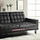 Thumbnail: IN STOCK NEW_CONTEMPORARY DARK BROWN CUP-HOLDER SOFA BED, FUTON, SLEEPER.