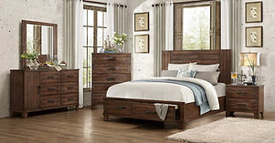 Homelegance 1877K-1CK Rustic Wood 4PC Ca
