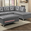 Thumbnail: IN STOCK NEW_2PCS GRAY SECTIONAL SOFA/ OTTOMAN NOT INCLUDED