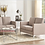 Thumbnail: IN STOCK NEW_2PCS RETRO BROWNISH GRAY FABRIC SOFA AND LOVESEAT LIVING ROOM SET