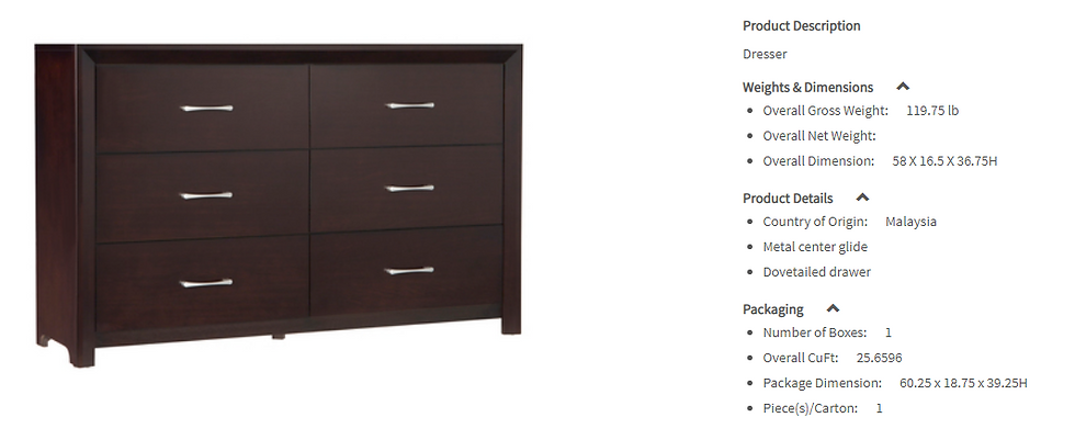 IN STOCK NEW_ESPRESSO 6 DRAWERS ONLY