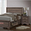 Thumbnail: IN STOCK NEW_QUEEN BED,WASHED TAUPE PLATFORM BED W/ DRAWERS NO BOX NEEDED