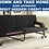 Thumbnail: IN STOCK NEW_ BLACK SOFA BED WITH WHEEL/ FUTON, SLEEPER,OTTOMAN,CHAISE LOUNGE