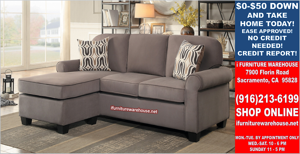 IN STOCK NEW_2PCS REVERSIBLE  FOSSIL NEUTRAL TONE SMALL SECTIONAL SOFA CHAISE