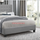 Thumbnail: IN STOCK NEW_TUFTED GRAY LINEN FABRIC QUEEN BED ONLY.  BOX SPRING REQUIRED