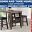 Thumbnail: IN STOCK NEW_COUNTER HEIGHT GRAY DINING TABLE AND 4 CHAIR STOOLS/ NO SERVER