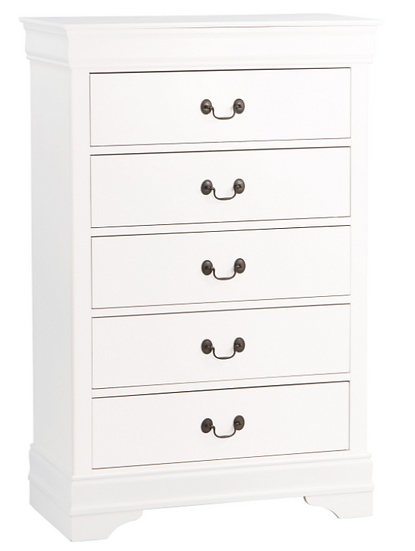 IN STOCK NEW_WHITE FINISH TALL CHEST ONLY