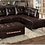 Thumbnail: IN STOCK NEW_2PCS BROWN SECTIONAL SOFA/ OTTOMAN NOT INCLUDED