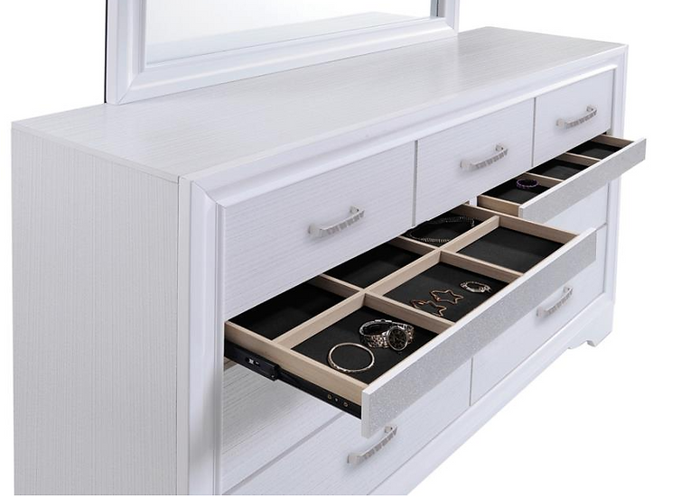 IN STOCK NEW_WHITE JEWELRY DRAWERS DRESSER ONLY