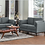 Thumbnail: IN STOCK NEW_2PCS  MID-CENTURY MODERN GRAY SOFA AND LOVESEAT STATIONARY COUCH
