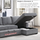 Thumbnail: IN STOCK NEW_2PCS DARK GRAY CHENILLE RSF SECTIONAL SOFA SLEEPER PULL-OUT BED