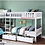 Thumbnail: IN STOCK NEW_4 TWIN BED, WHITE CORNER BUNK BED WITH DRAWERS ALL