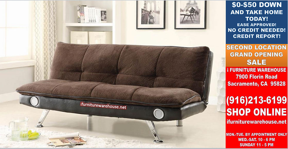 IN STOCK NEW_BLUETOOTH SPEAKERS FUTON SOFA BED THREE COLOR CHOICE