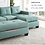 Thumbnail: IN STOCK NEW_2PCS. REVERSIBLE  TEAL SMALL SECTIONAL SOFA SLEEPER/ NO OTTOMAN