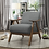 Thumbnail: IN STOCK RETRO NEW_SOLID WOOD DARK GRAY FABRIC ACCENT CHAIR