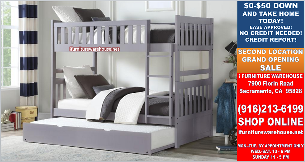 IN STOCK NEW_FULL BED/ GRAY FULL/FULL BUNK BED ONLY.
