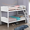 Thumbnail: STOCK NEW_WOOD WHITE TWIN/TWIN YOUTH BUNK BED ONLY.