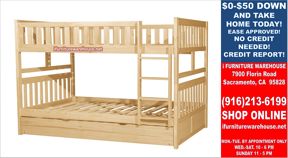 IN STOCK NEW_FULL BED/ NATURAL FULL/FULL BUNK BED ONLY.