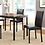 Thumbnail: IN STOCK NEW_5PCS. DARK BROWN DINING TABLE AND 4 SIDE CHAIRS