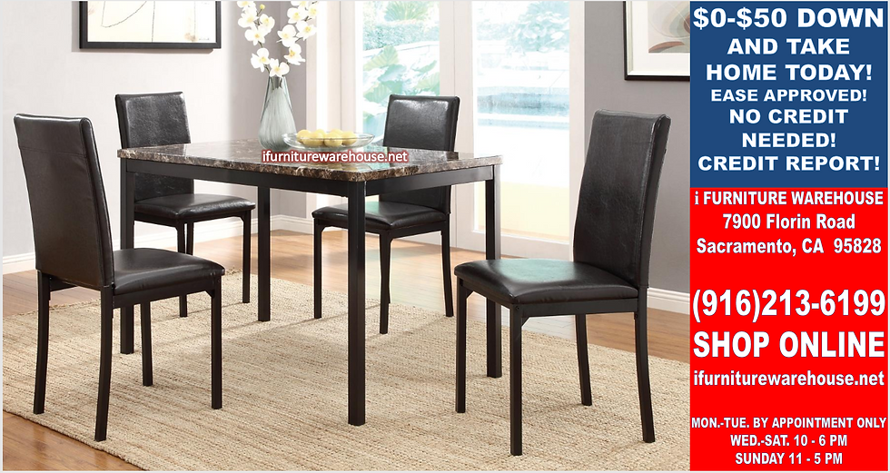 IN STOCK NEW_5PCS. DARK BROWN DINING TABLE AND 4 SIDE CHAIRS