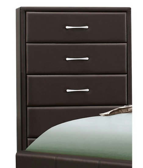 IN STOCK NEW_BROWN 5 DRAWERS TALL CHEST ONLY