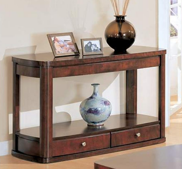 IN STOCK NEW EVANS SOFA TABLE WITH TWO DRAWERS