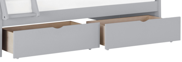 IN STOCK NEW_PAIR OF TWO UNDER DRAWERS FOR BUNK BED IN GRAY FINISH