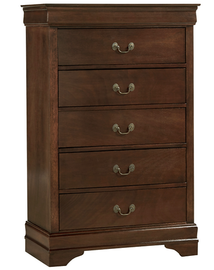 IN STOCK MAYVILLE BROWN CHERRY FINISH TALL CHEST