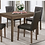 Thumbnail: IN STOCK NEW_5PCS. ASH WOOD DINING TABLE AND 4 SIDE CHAIRS