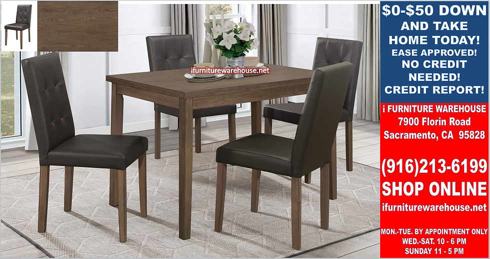 IN STOCK NEW_5PCS. ASH WOOD DINING TABLE AND 4 SIDE CHAIRS