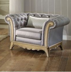 Tuft Button Accent Chair