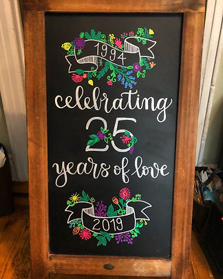 Anniversary Chalkboard