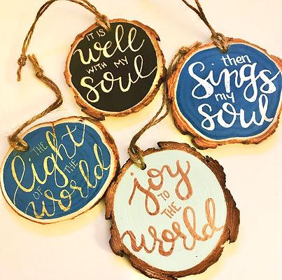 Woodslice Ornaments