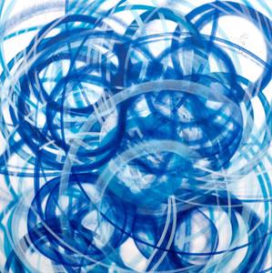 Blue  Mixed media on canvas 95 x 95cm 2017