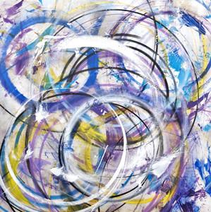 Fresh  Mixed media on canvas 140 x 140cm 2016