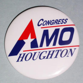 Amo Houghton button, 1996