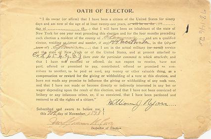 Spanish-American war ballot envelope