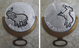 My Party novelty, 1930s (both sides)