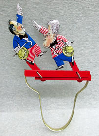 Political novelty with representations of Bill Clinton and Bob Dole, 1996
