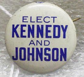 John F. Kennedy and Lyndon B. Johnson button, 1960