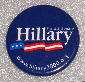 Hillary Clinton button, 2000